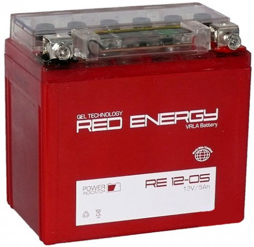 Аккумулятор Red Energy RE 12-05. (YTX5L-BS, YTZ7S) зал.